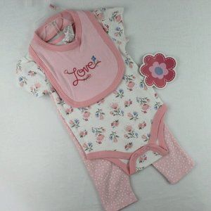 CJP Baby 3 Piece Outfit Girl Size 3-6 Months